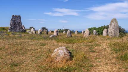 Viking stone ship burial in Oland island, Gettlinge, Sweden