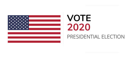 vote 2020 flag of America symbol concept