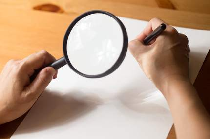 writing with Magnifier