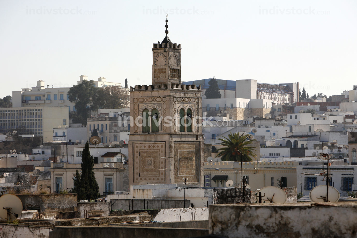 a old Mosque in the Medina of the Old City of Tunis,Tunisia, Sidi Bou Sair, March, 2009