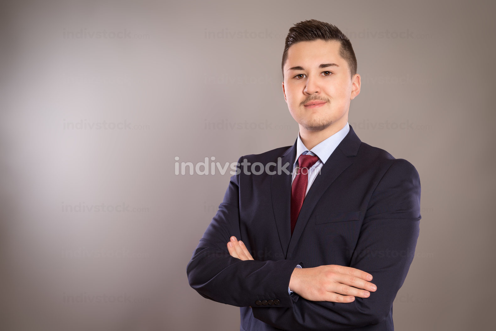 A portrait of a young business man
