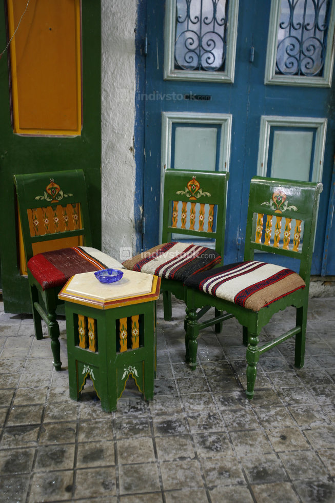 a Teahouse or cafehouse in the Souq, Market or bazaar in the Old City of Tunis in north of Tunisia in North Africa,  Tunisia, Sidi Bou Sair, March, 2009