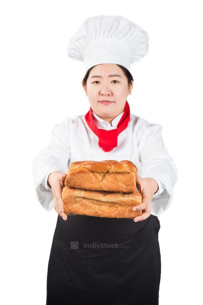 Baker. Isolated over white.