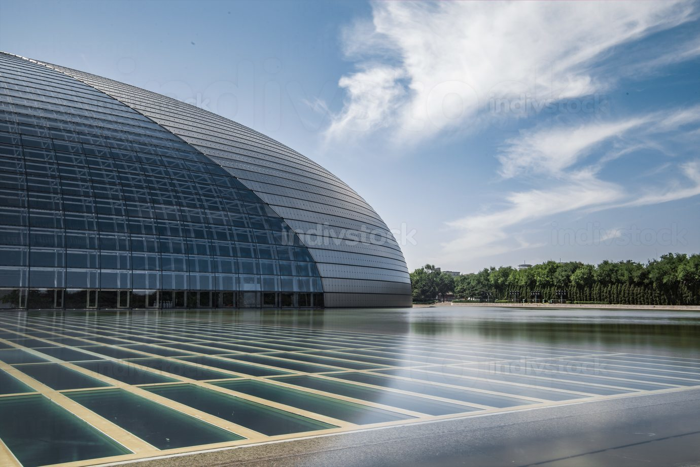 beijing national theater at noon