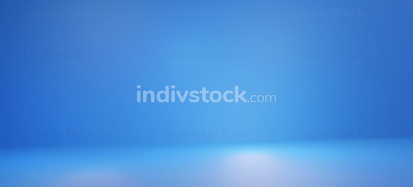 blurred blue background 3d-illustration