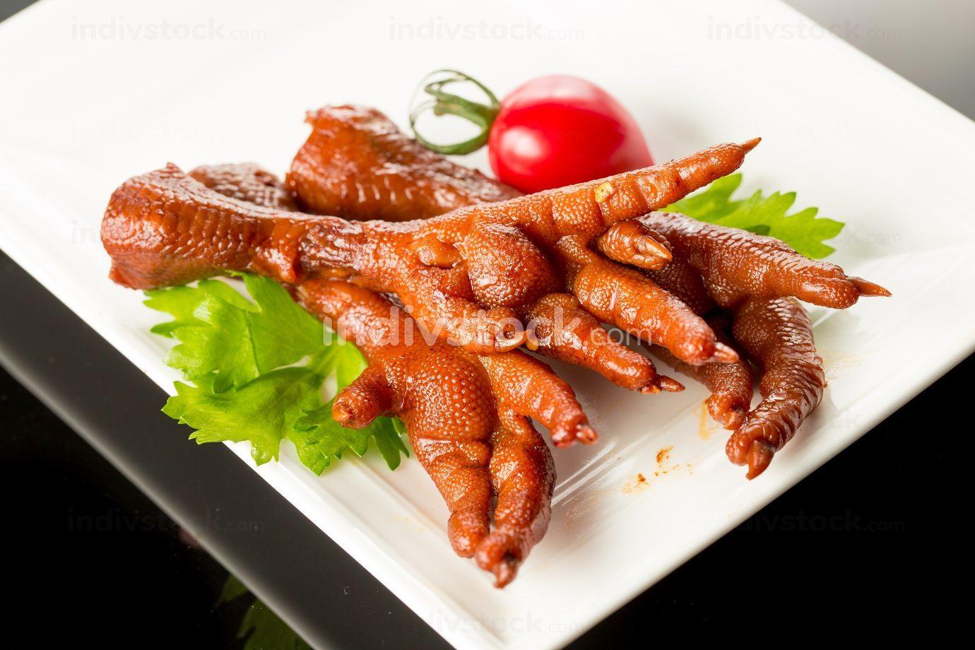 Braised Chicken claw, Chinese cuisine.