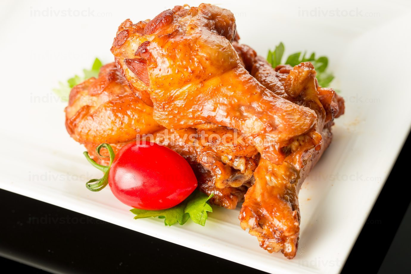 Braised chicken wings, Chinese cuisine.