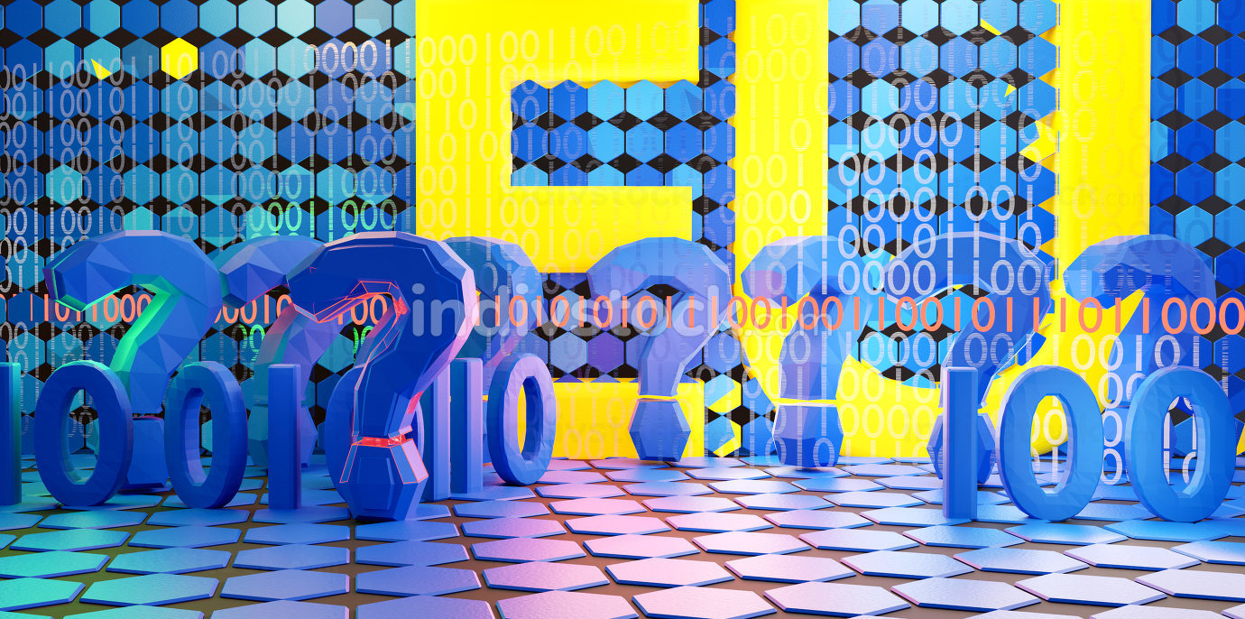 concept of Europe and binary code. digital concept background 3d