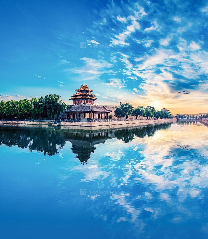 Corner turret of the Forbidden City