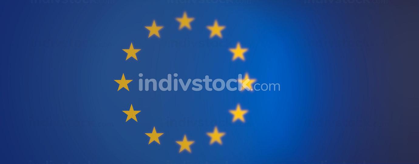 flag of europe background graphic 3d-illustration
