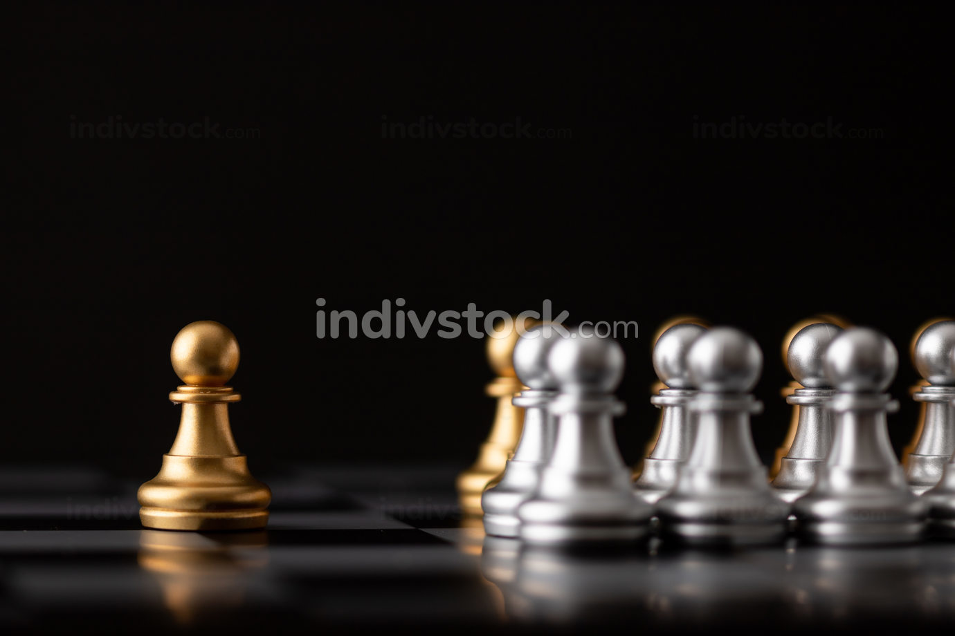 gold chessman is the leader