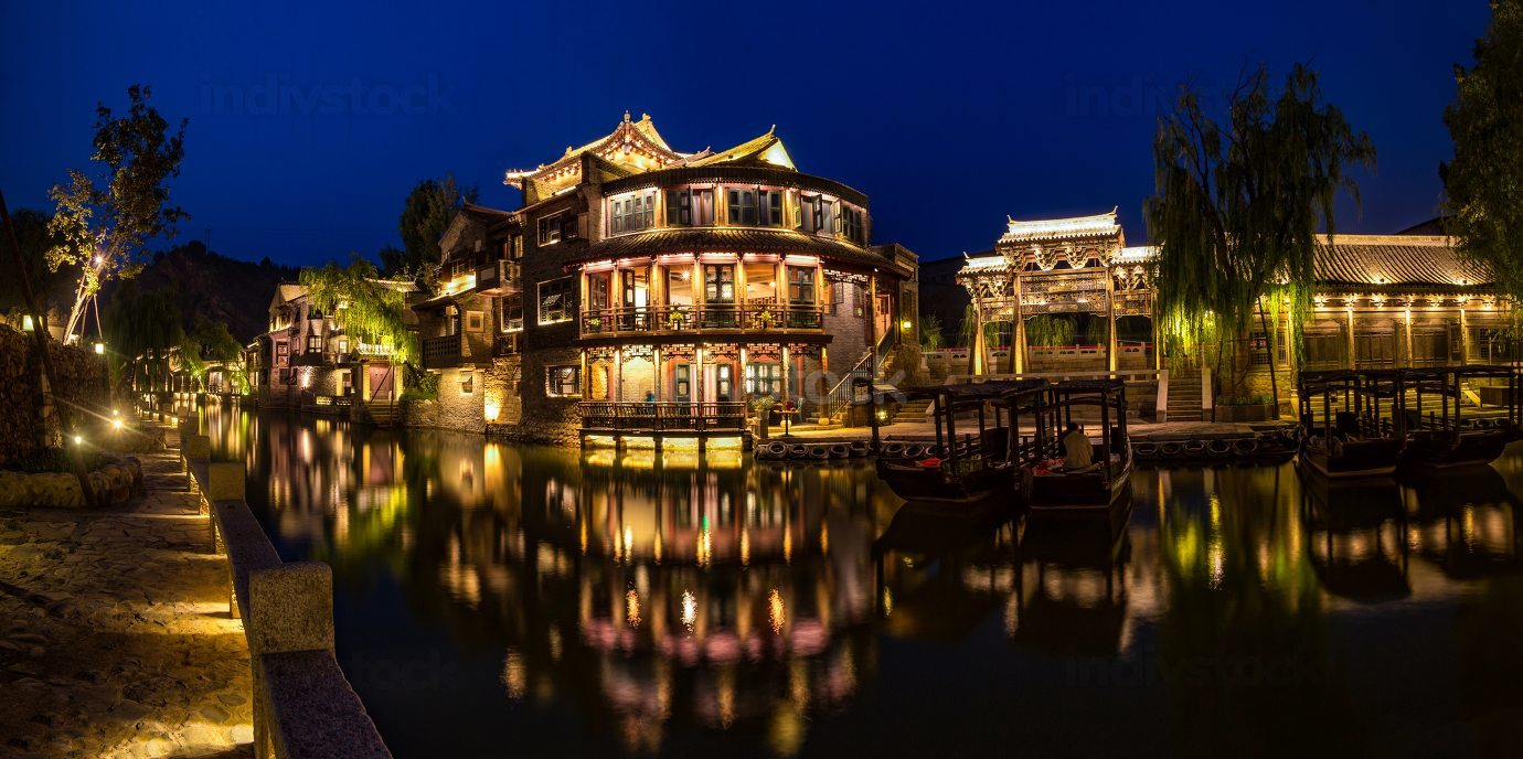 Gubei water town night view
