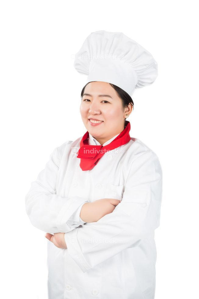 Happy chef and cook showing