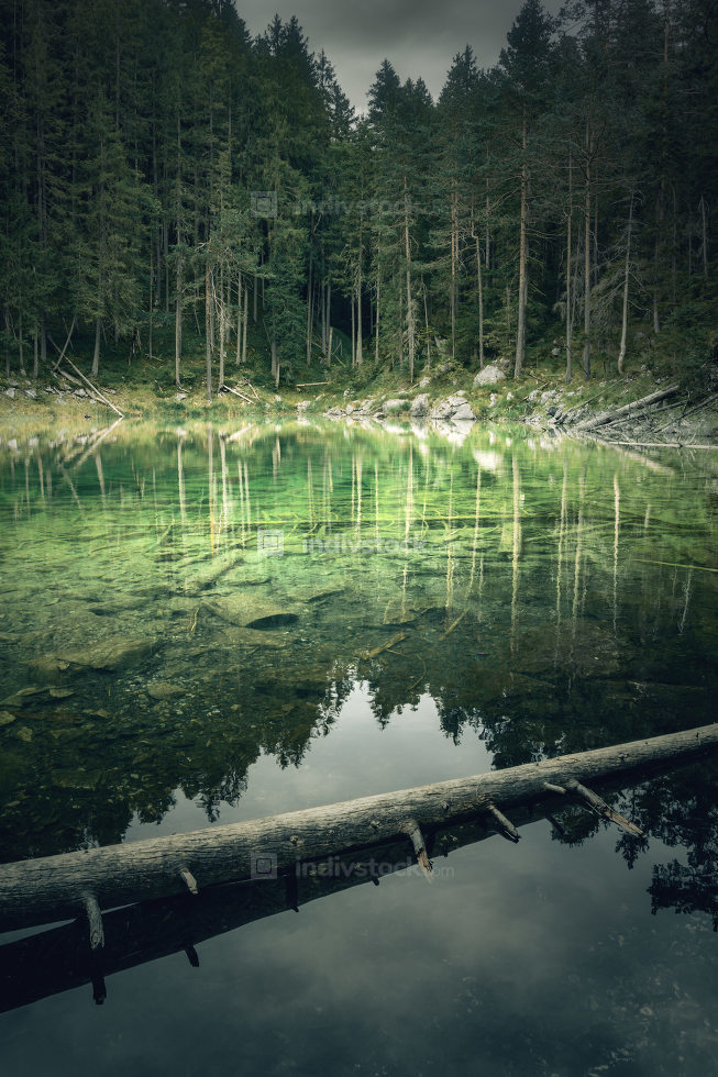 Impression of the Eibsee of south Germany
