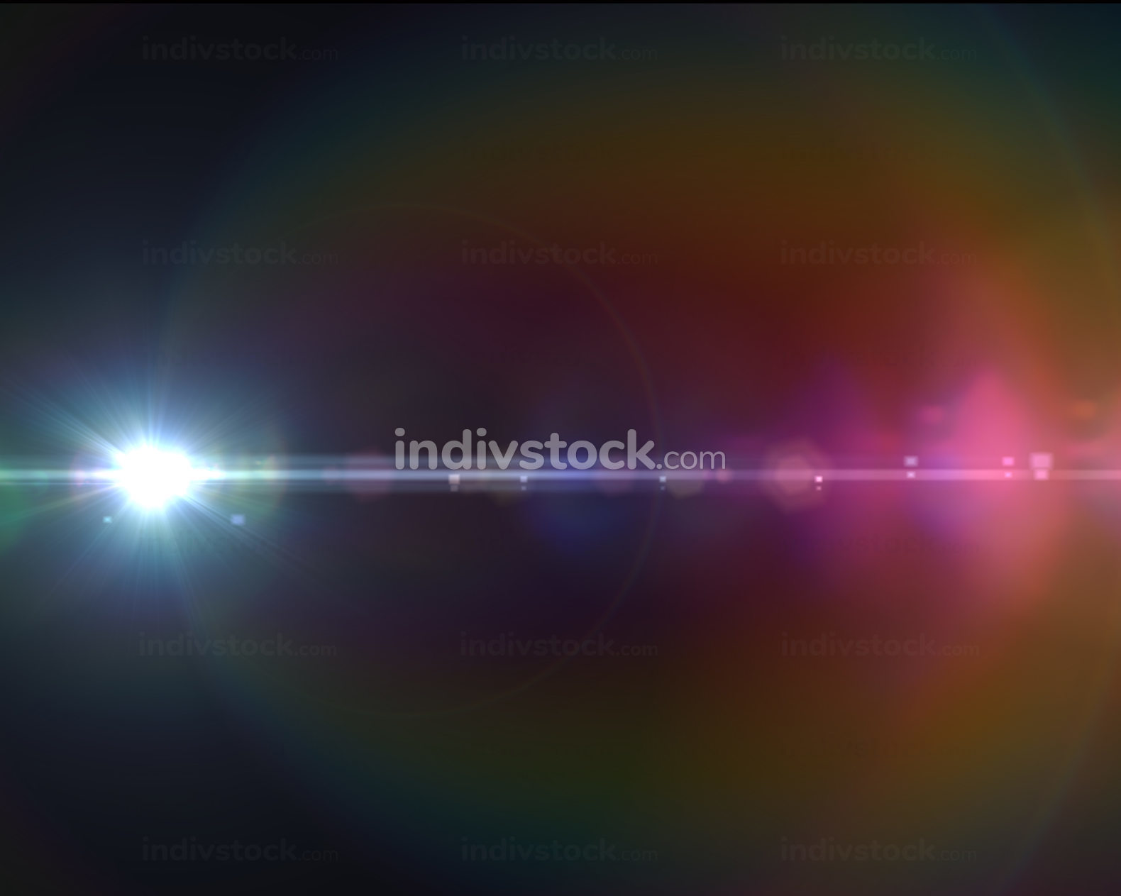 Lens flare effect in space