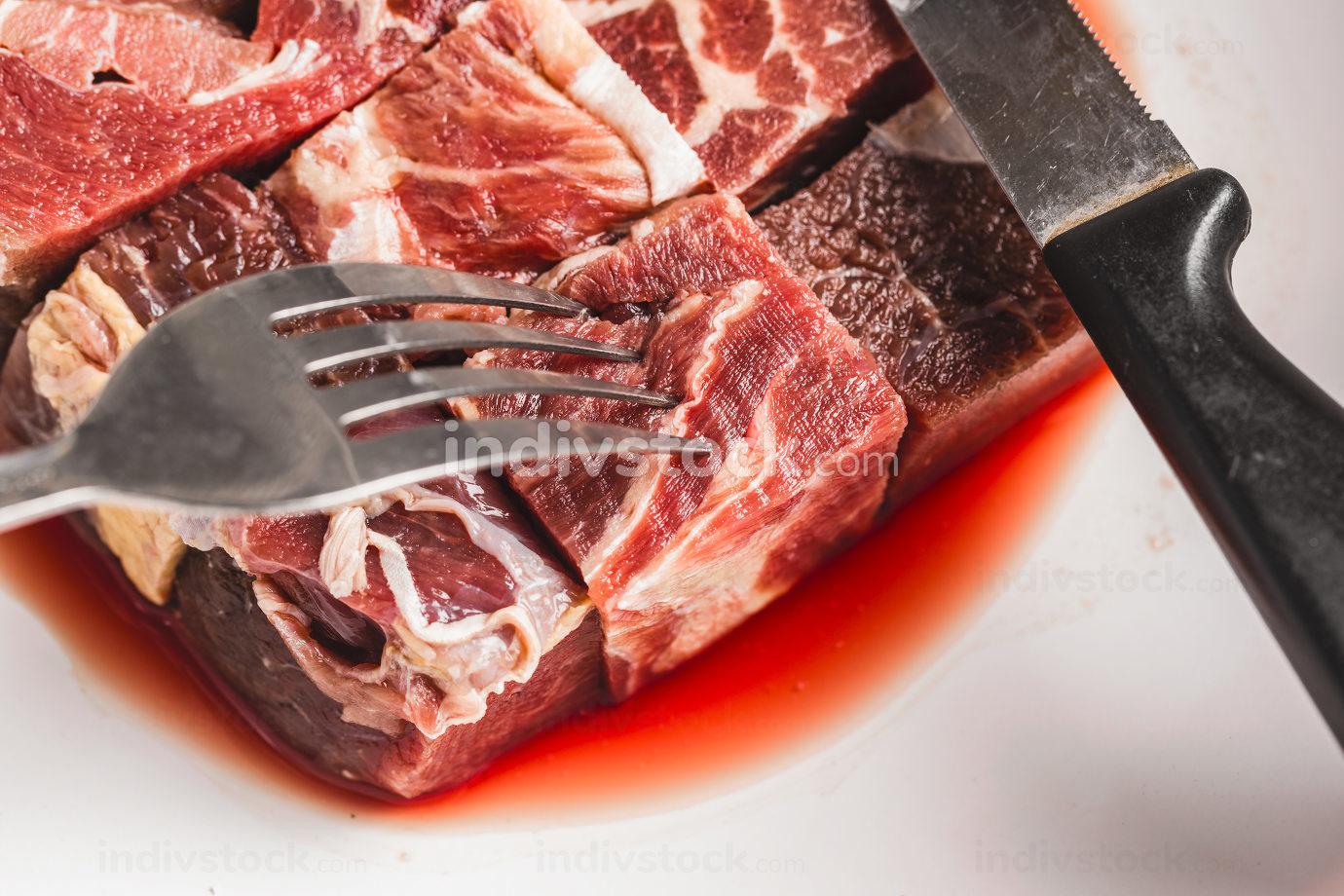 Raw beef steak nice photo