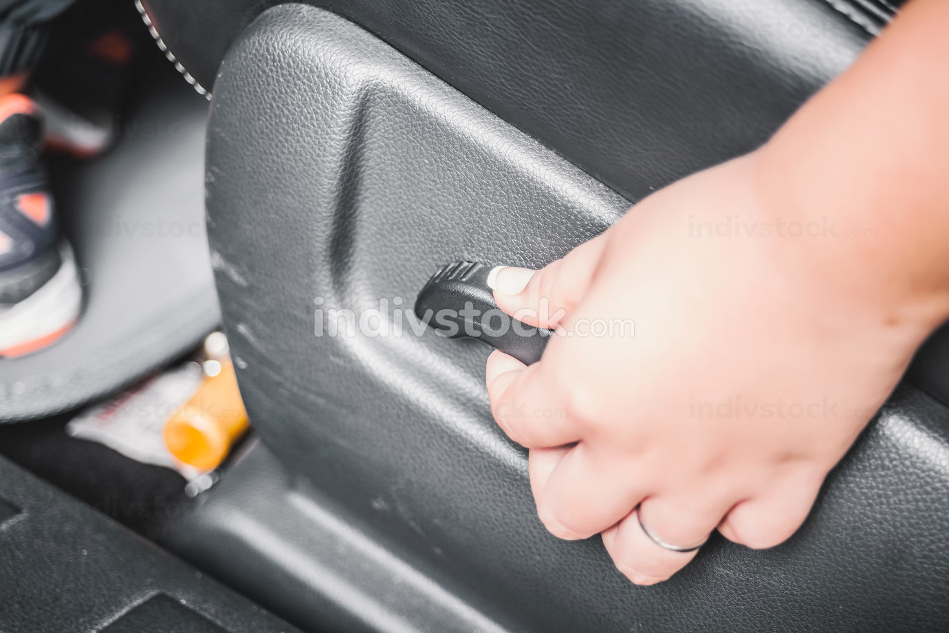 Electric seat adjustment of car background
