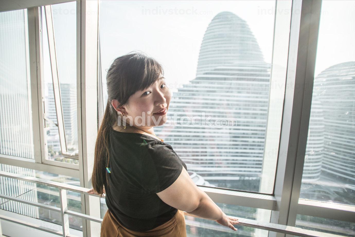 Beautiful businesswoman portrait in modern office