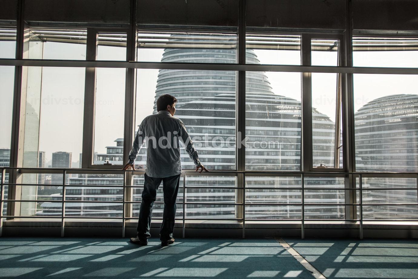 Portrait of businessman in office