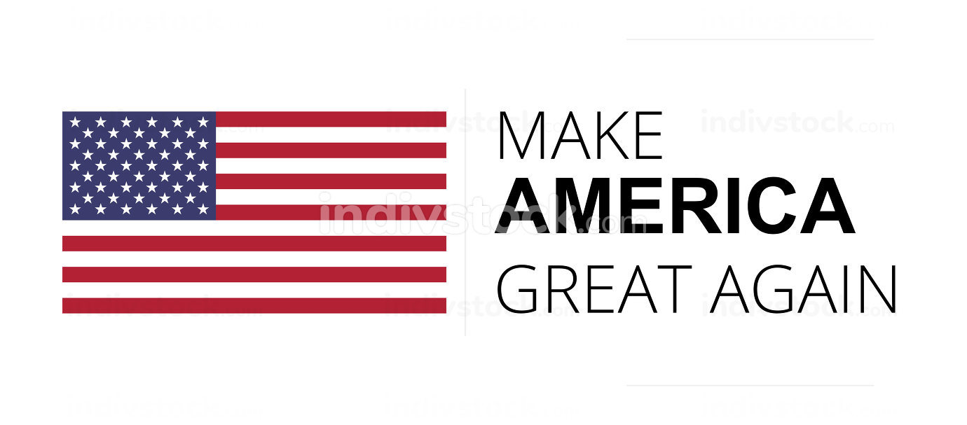 make america great again symbol text isolated on white 3d-illust