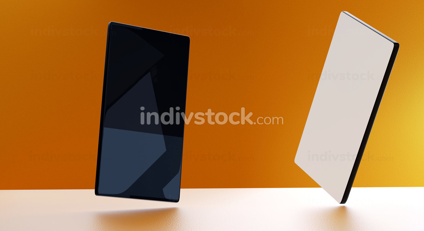 mobile phone background blank screen 3d-illustration
