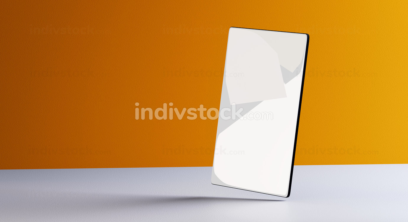 mobile phone background blank screen 3d-illustration