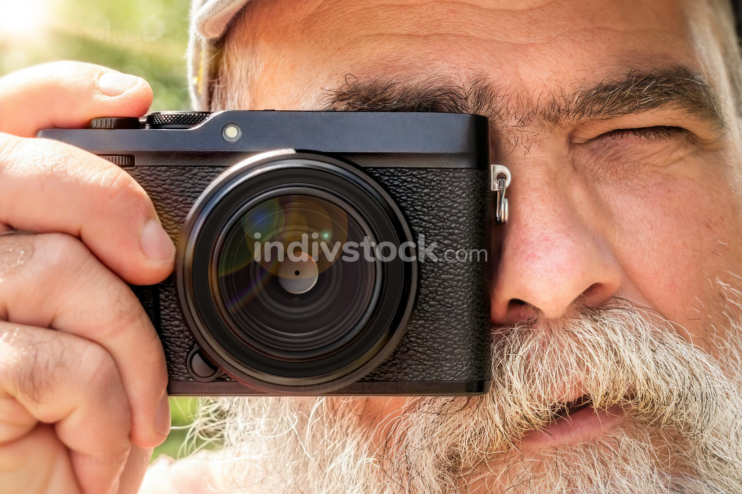 older man with his camera