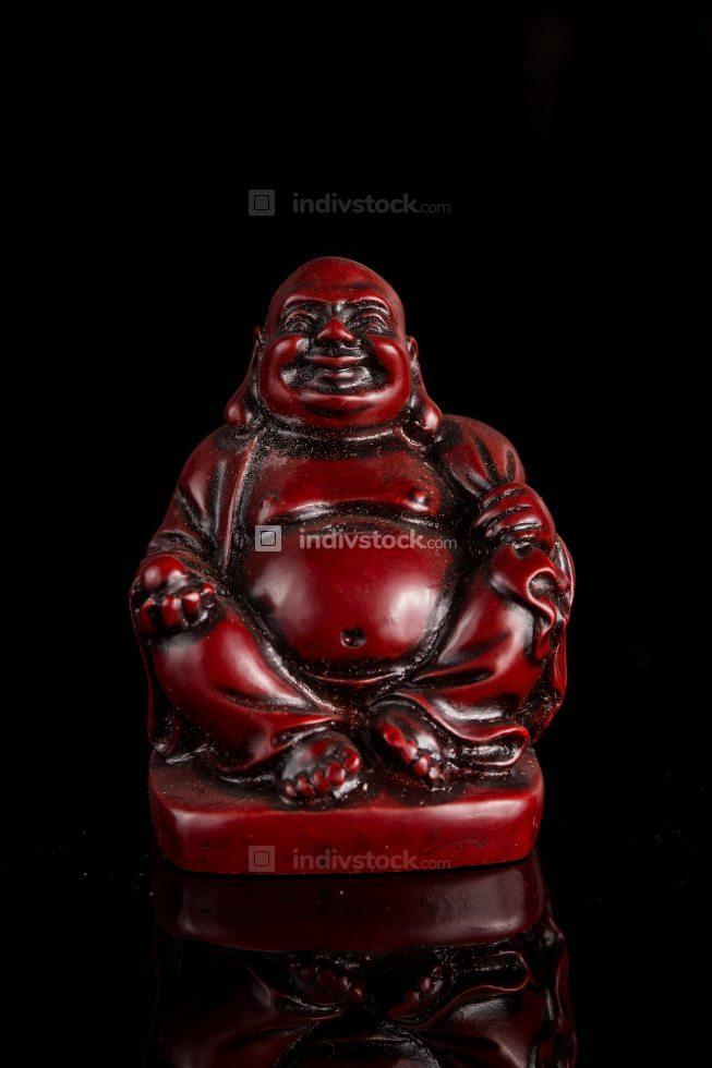Redwood carved Buddha statue