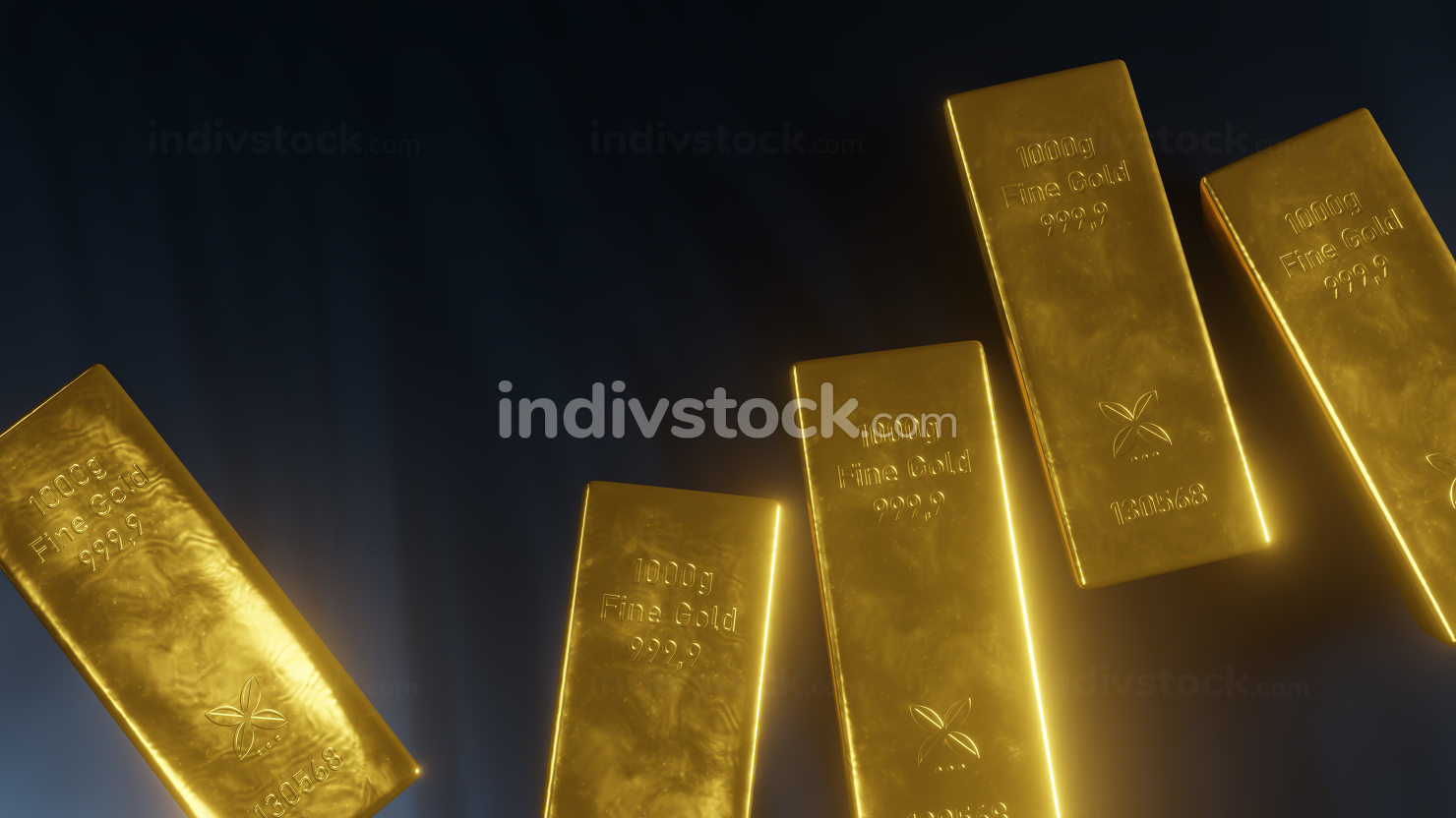 some typical gold ingot