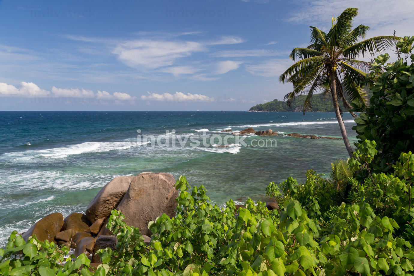 The Seychelles, one of beaches with big stones and a lot of plan