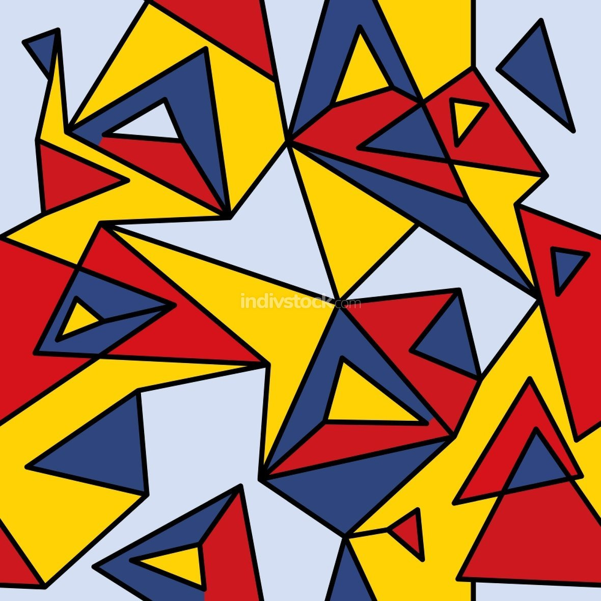 Fragment of geometric cubism, Abstract seamless pattern