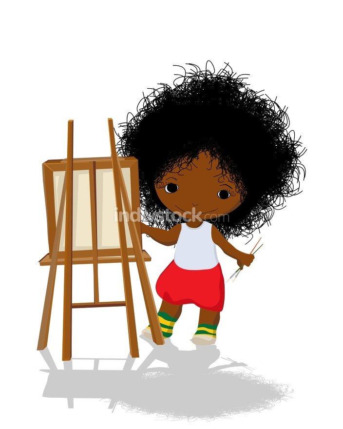 Little girl artist