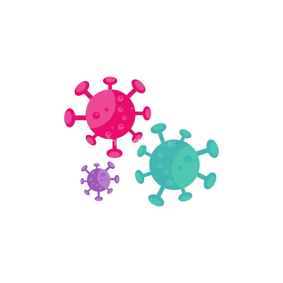 Virus vector illustration icon