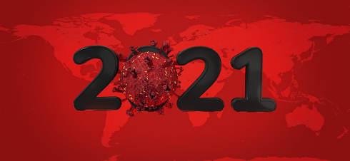 2021 covid-19 Corona Virus world map. elements of this image furnished by NASA 3d-illustration