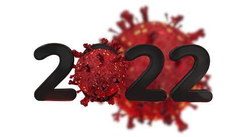 2022 covid-19 Corona Virus 3d-illustration