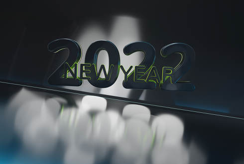 2022 new year creative background abstract design 3d-illustration