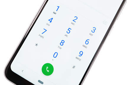Calling screen on the smartphone