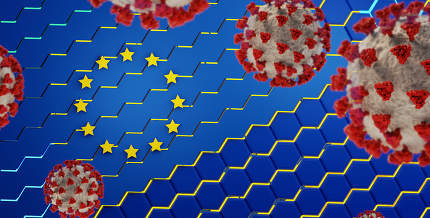 concept of creative abstract hexagonal Europe background and cov