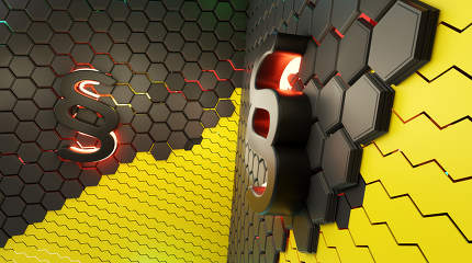 concept of creative abstract hexagonal paragraph law background