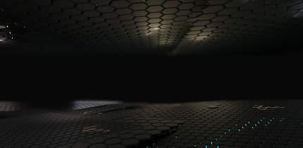 dark grid hexagonal abstract background 3d-illustration
