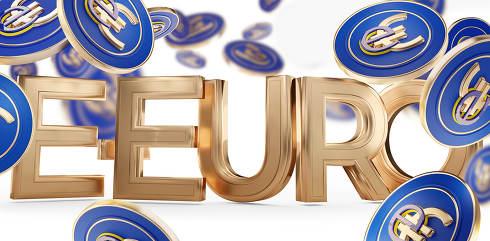 European digital e-euro currency symbolic 3d-illustration