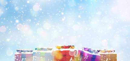 festive artistic creative christmas presents background snowflakes concept 3d-illustration