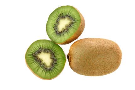 fresh kiwi fruits isolated on a white background