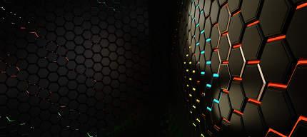 grid hexagonal modern creative trending dark structure background 3d-illustration