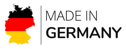 made in Germany. a clean design with a slightly simplified outline map of Germany. 3d-illustration