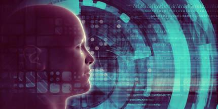 Mind Brain Code as Data Visualization Concept Art
