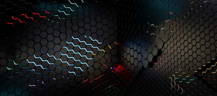 neon hexagonal background 3d-illustration