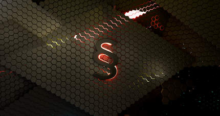 paragraph law dark grid hexagonal abstract background 3d-illustr