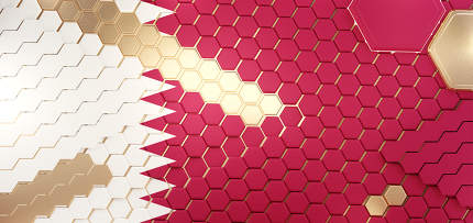 Qatar hexagonal grid pattern design 3d-illustration background