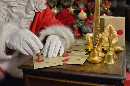 Santa Claus Seal Letter For New Year on Desk